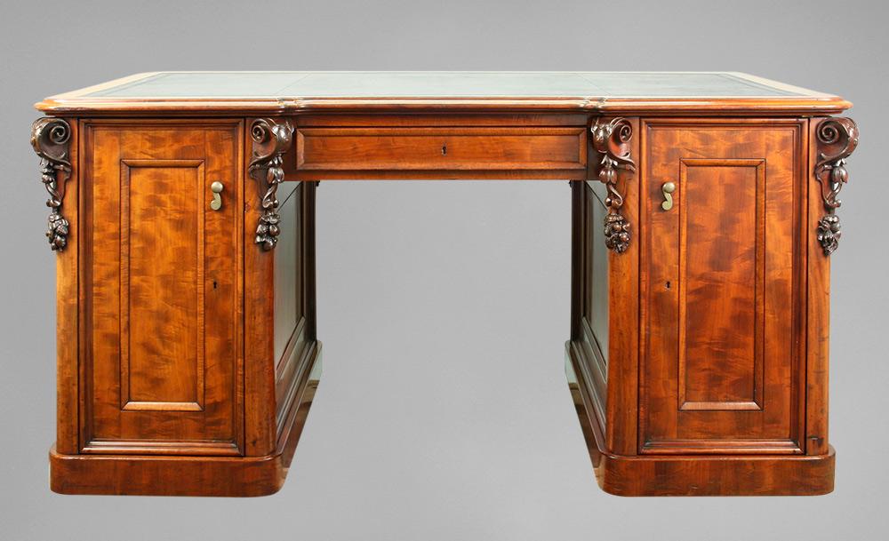 Ruskin's desk, as seen after restoration