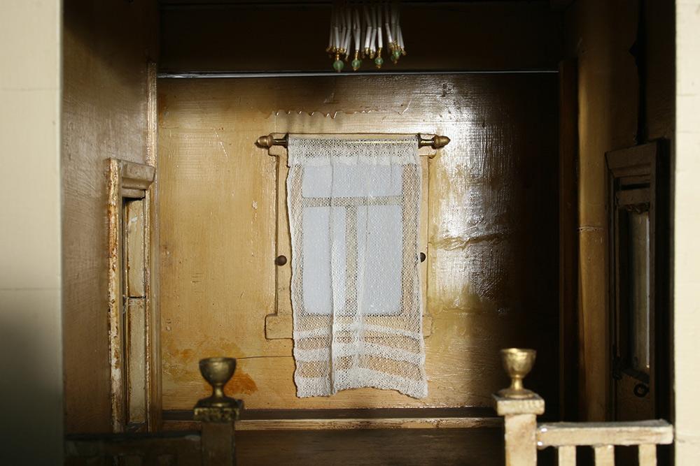 Photo:  Historic dollhouse interior after restoration