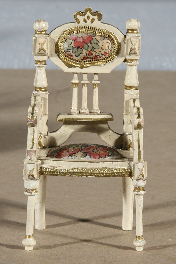 Photo:  Dollhouse chair after repair