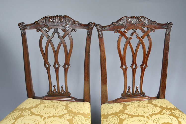 Reproduced and original Chippendale style chairs