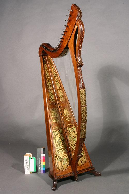 Polychrome Irish Harp