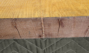 Balsa wood infills in the expansion cracks