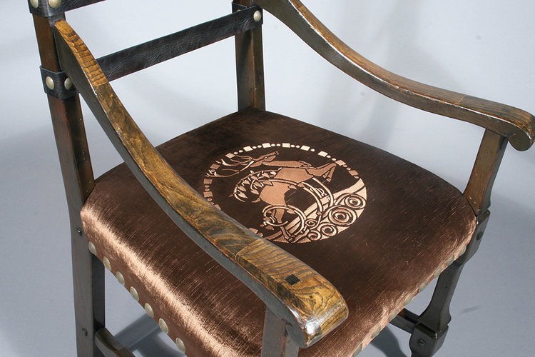 Upholstered chair seat post-treatment