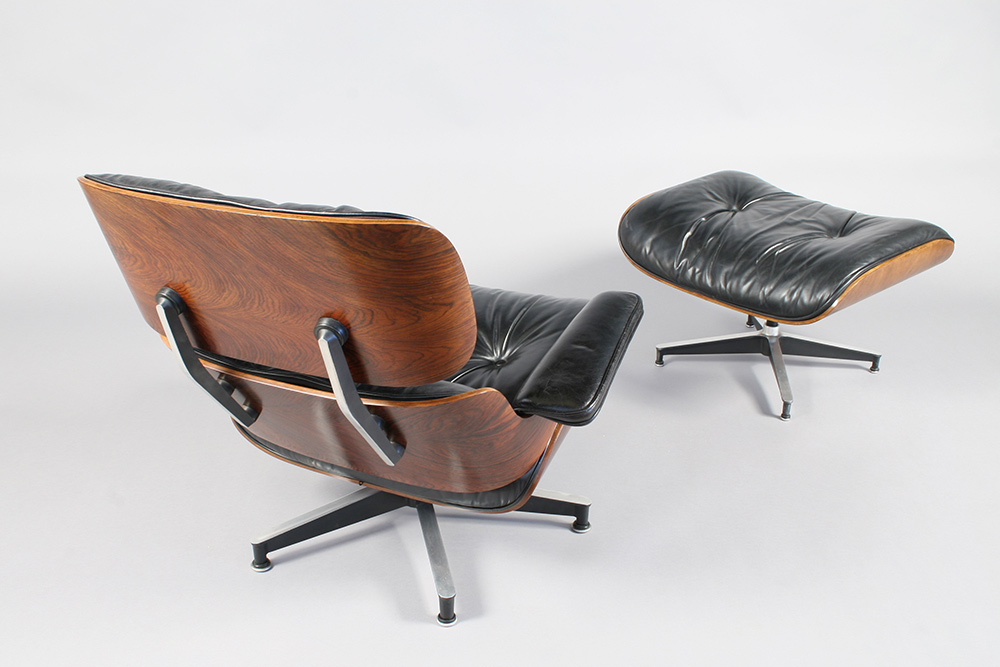 Eames Lounge Chair Set (670/671) after conservation
