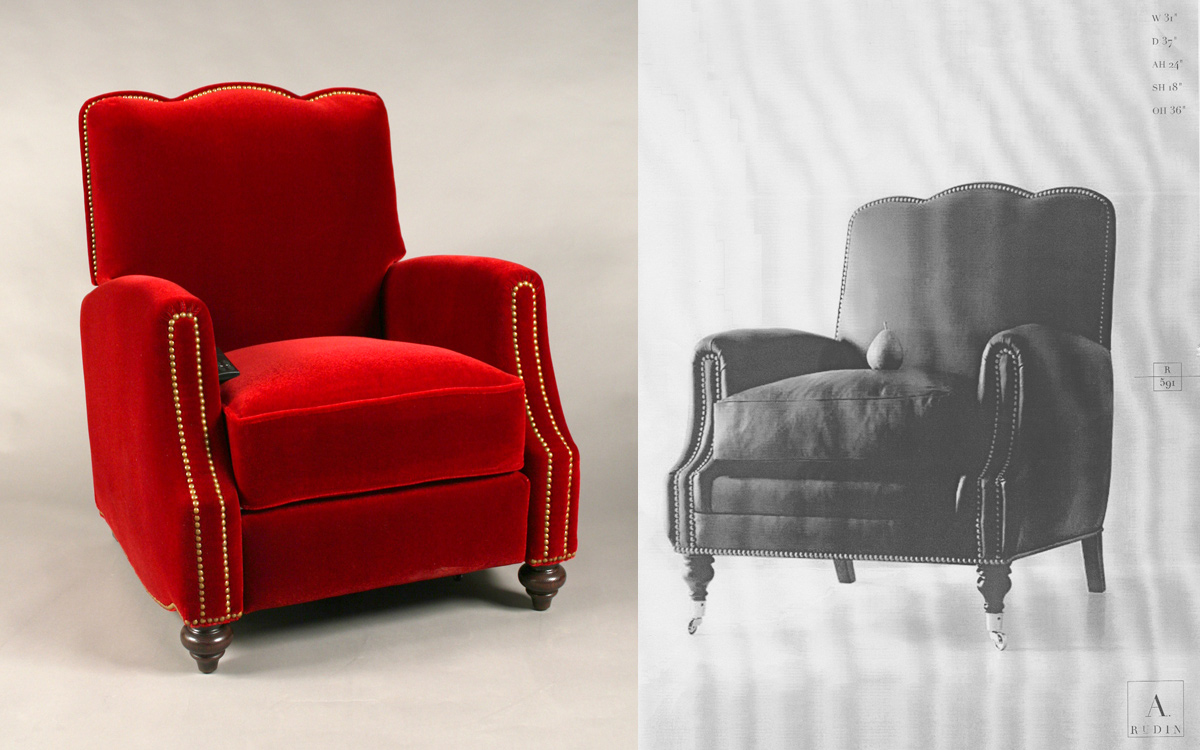 CUSTOM DESIGN & FABRICATION OF FOUR ARM CHAIRS WITH MOTORIZED RECLINING MECHANISM