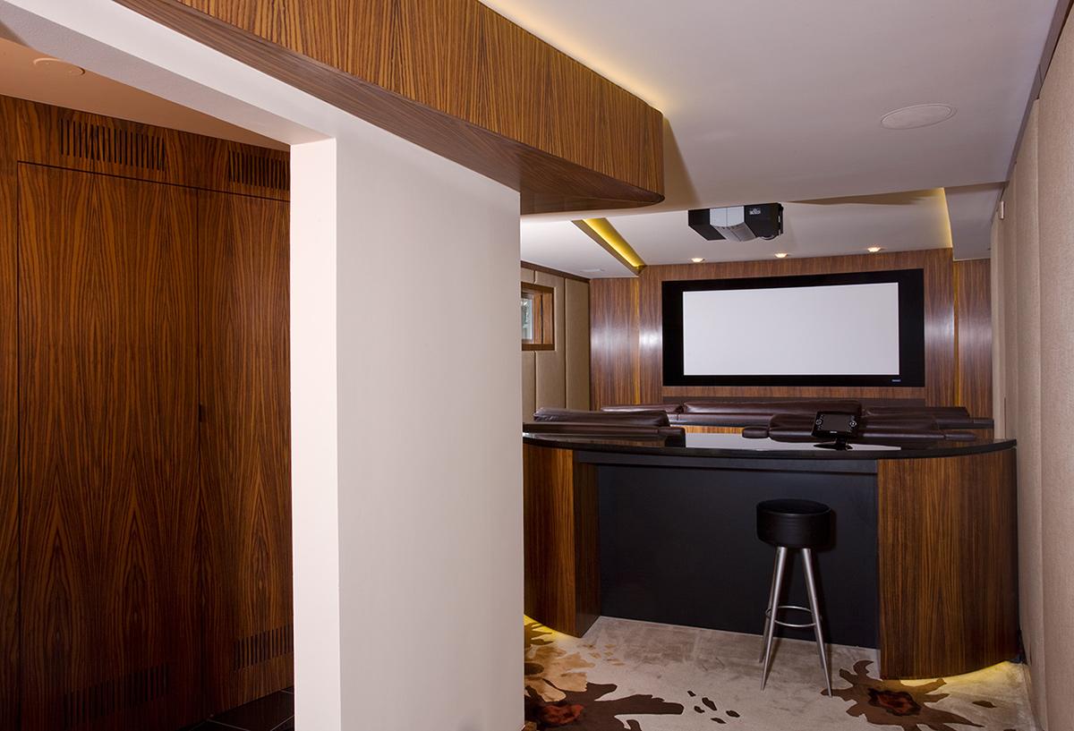 Rosewood Millwork Media Room