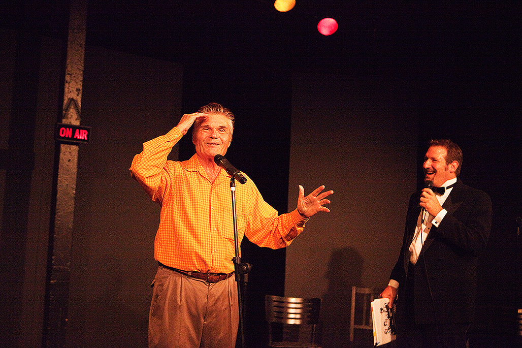 David, sharing the stage with Fred Willard