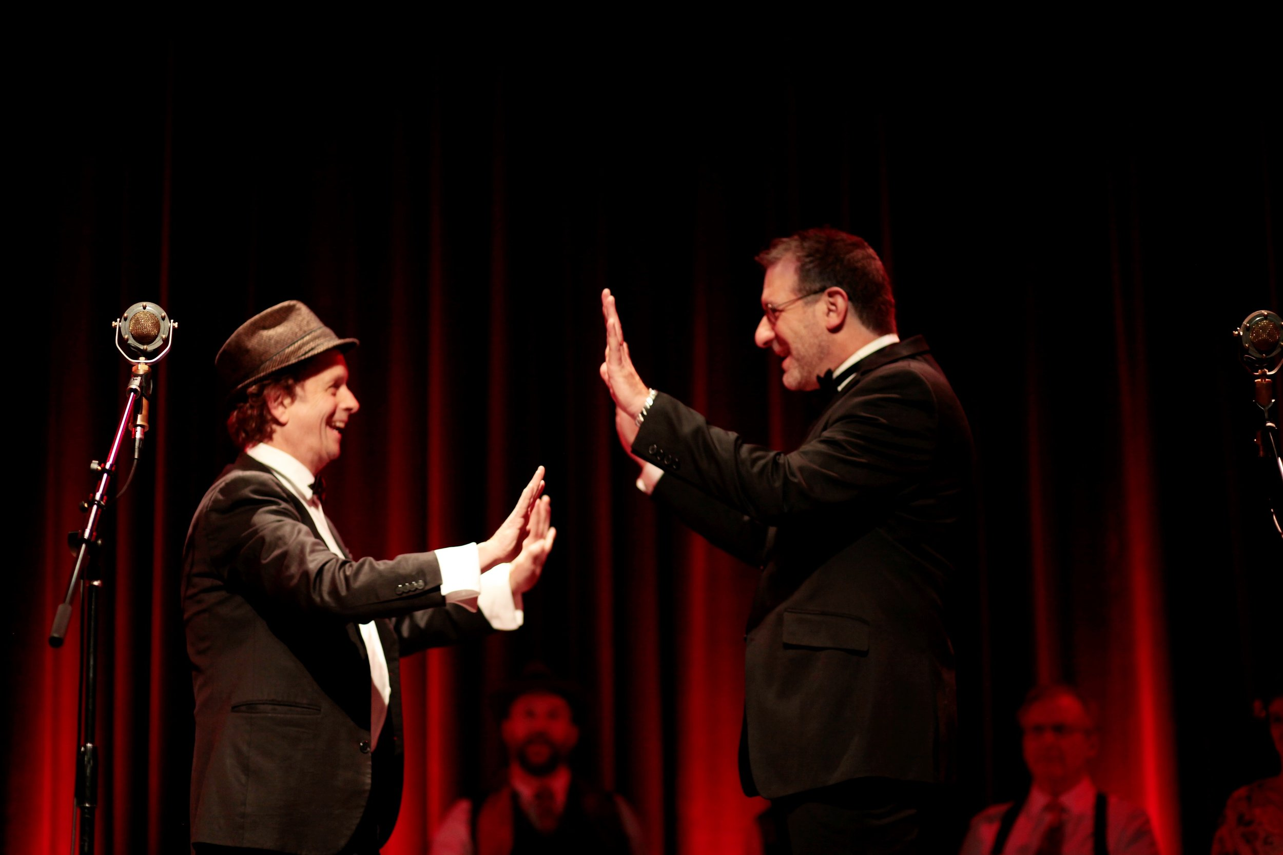 """David and Kevin McDonald from """"The Kids in the Hall"""" on stage at The Alberta Rose Theater in PDX"""