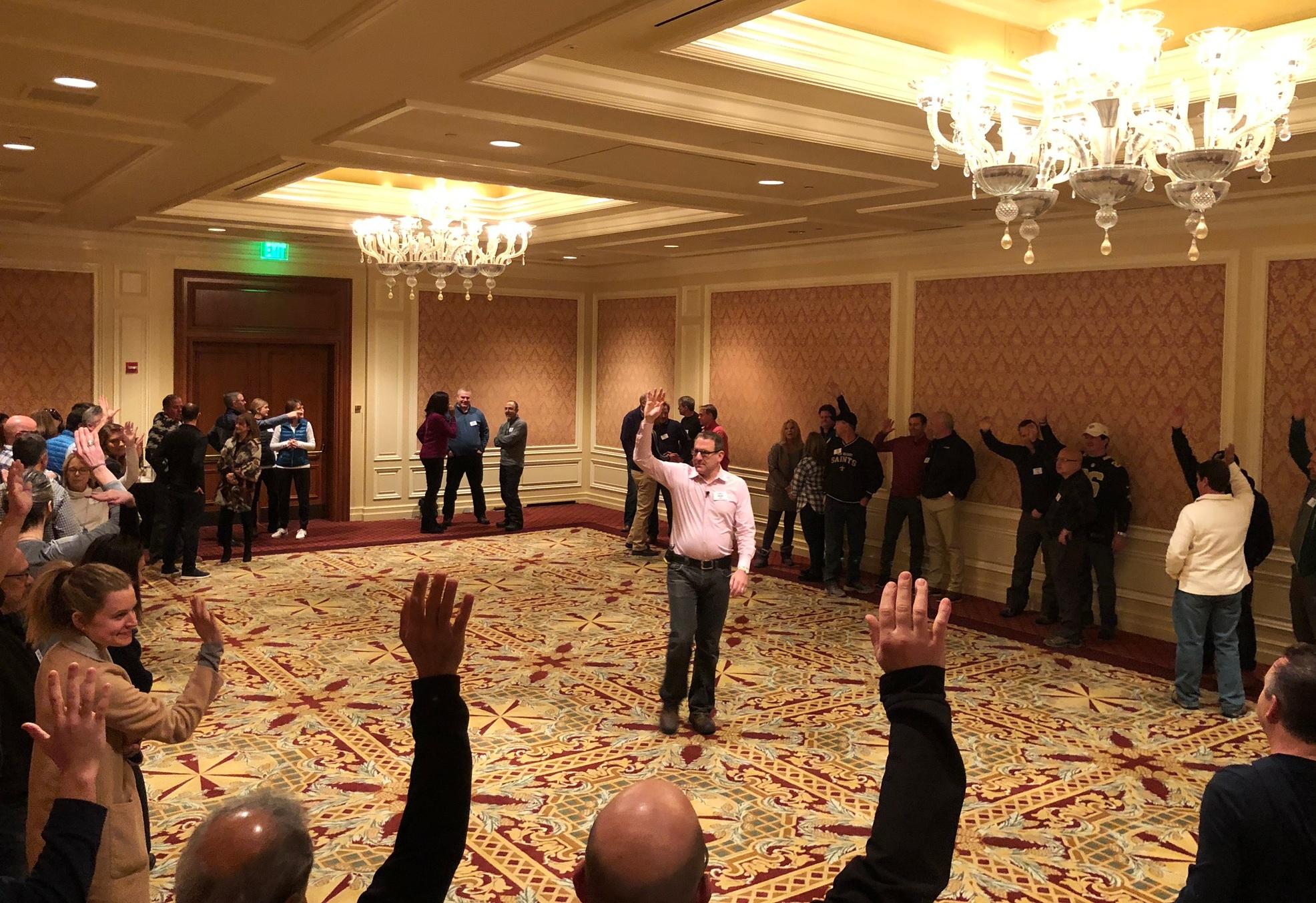 David, teaching 60 executives in Sun Valley, ID
