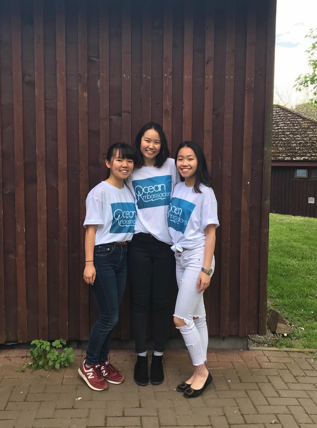 Left to right: Asako Kitai (Japan), Napat Luanpolcharoenchai (Thailand), and Hayley Lai (Hong Kong & Canada)