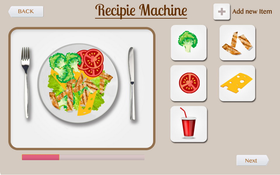 Recipe Making Screen