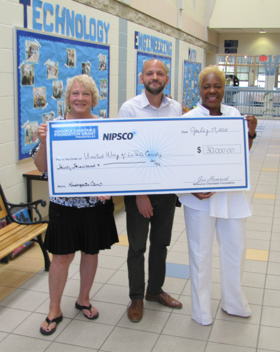 Thanks to United Way of LaPorte County and the generous support of NIPSCO, Healthcare Foundation of La Porte, and Unity Foundation, our community's newest students will start school this fall with the skills they need to succeed!  This is how we LIVE UNITED.