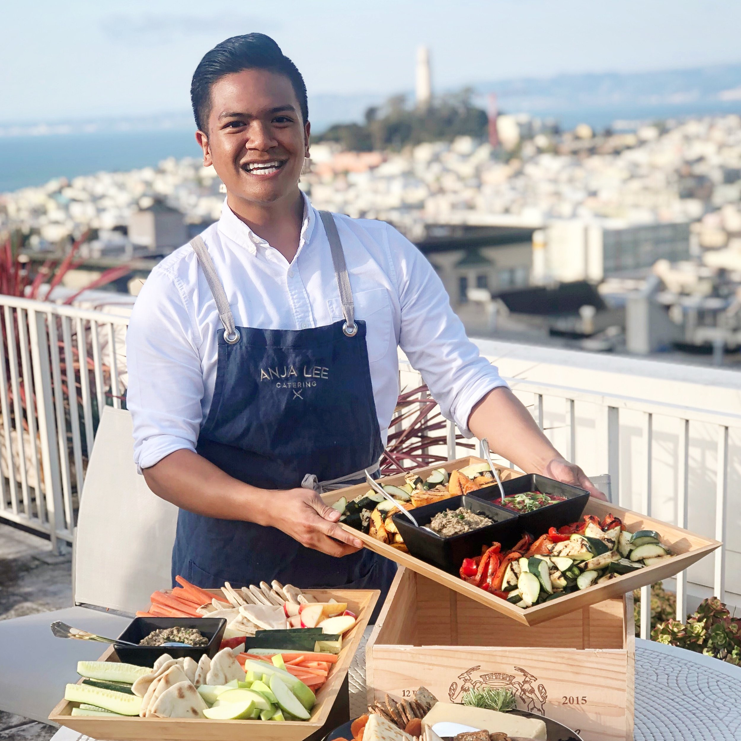 A natural host and chef, Josh's cooking and entertaining skills are things you won't know off of his resume. Joshua, UC Irvine alumni and Master's candidate for Public Administration at San Francisco State University, is a passionate chef in his spare time when not at his day job in City Planning. It's not easy work, but Josh is passionate about local government. When he's not at City Hall, Joshua puts in the same high-level energy and commitment into catering. Josh's catering and event planning has been rooted in him since his high school days in the suburbs of Sacramento. He's recognized for his knack in detailed planning when it comes to parties, decorating, and cooking. Throughout college, Josh made sure his friends were nourished with good food and not instant ramen. Now a resident of San Francisco, Joshua shares his love of party planning and food by growing his  #noshbyjosh  business as a catering consultant to the greater Bay Area. Joshua gravitates towards creating homemade Asian cuisine that is truly made with love. And he isn't afraid to coordinate an entire wedding if asked to do so. Bold flavors and beautiful presentations are his criterion. Joshua's main focus is to bring a smile to one's face and fostering that feeling of familiarity, while experiencing something original and new. Find Josh on Instragram @noshbyjosh for daily creations and inspirations!