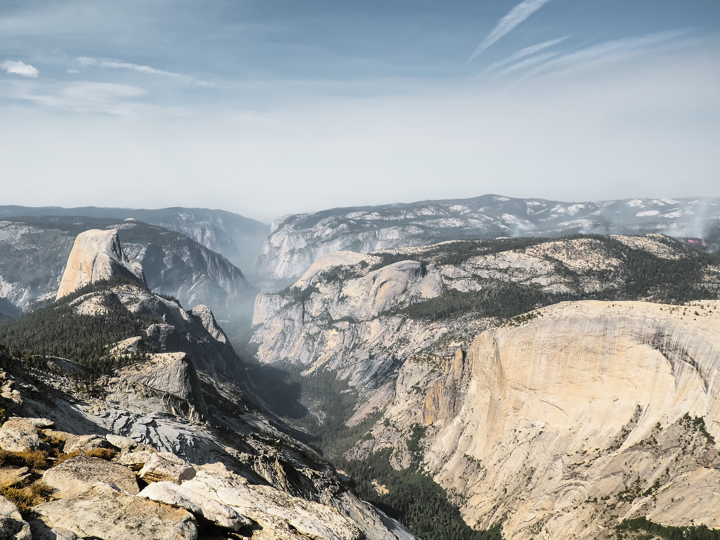 CLoud's Rest looking towards Yosemite Valley