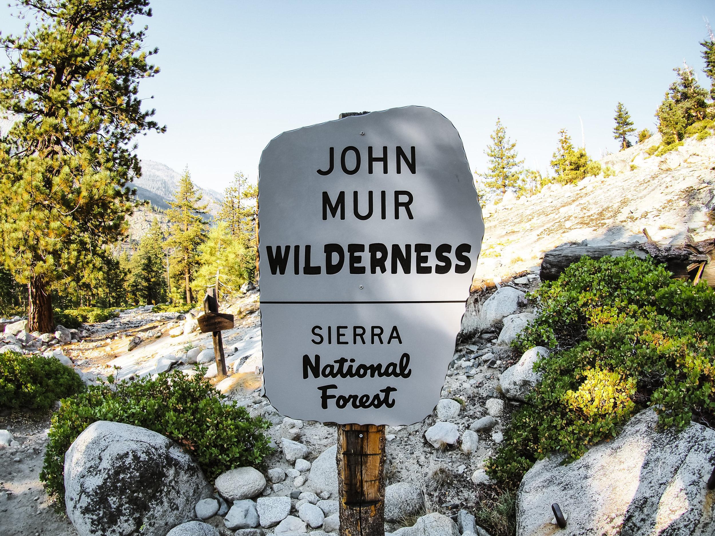 Leaving John Muir Wilderness, entering King's Canyon National Park
