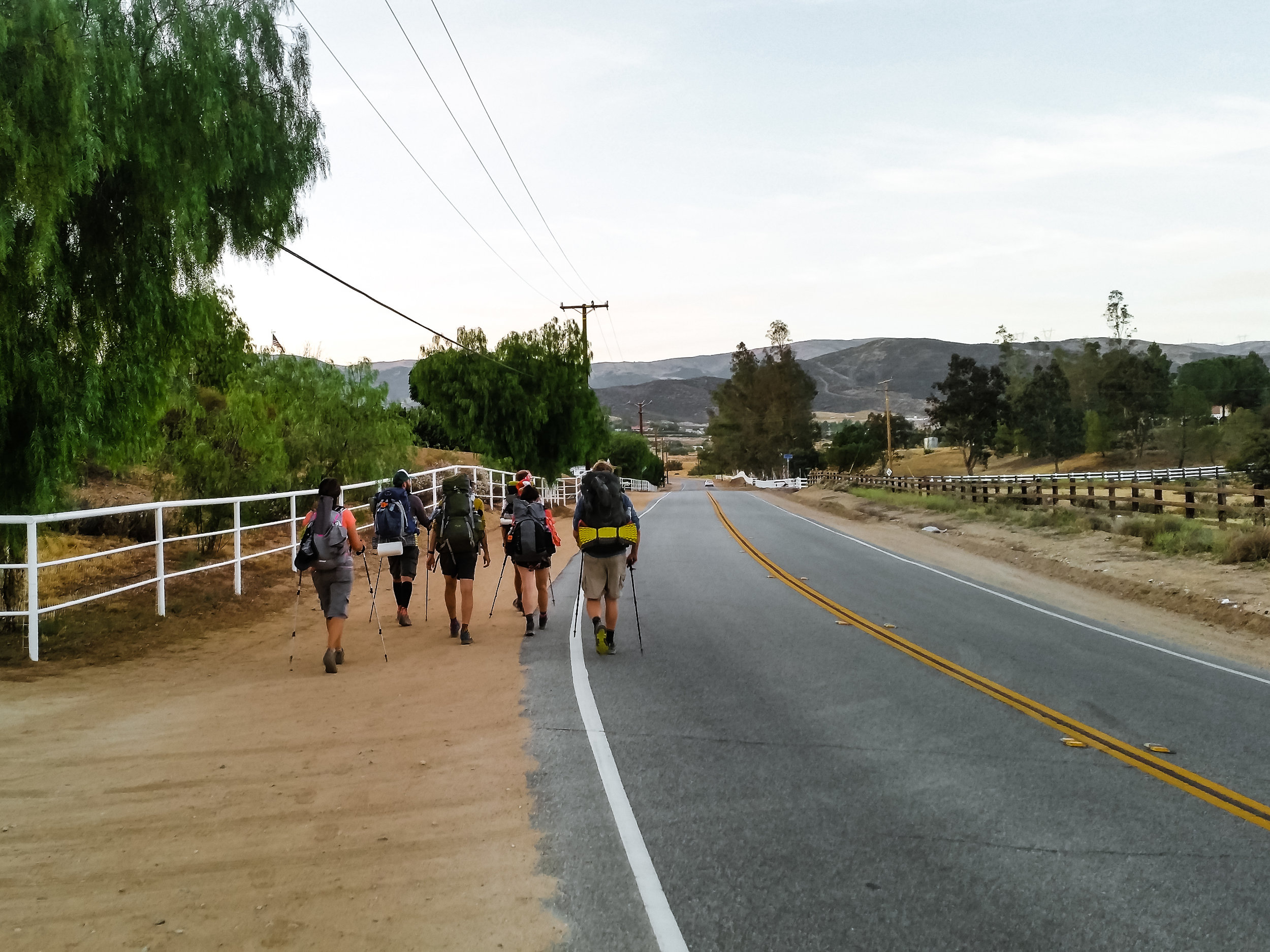 Leaving Agua Dulce and switching to night hiking to avoid the heat