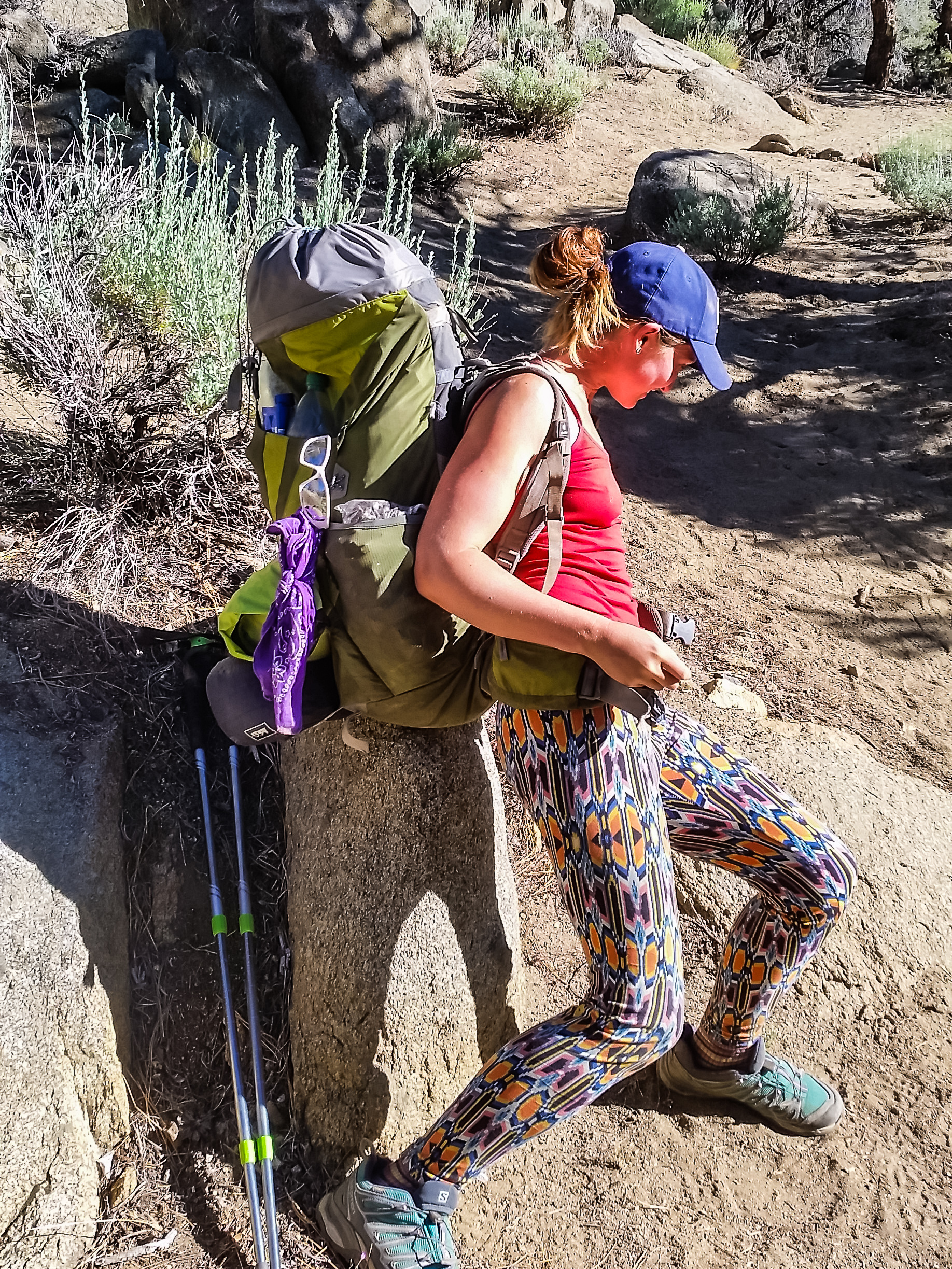 Moontrain had one of the biggest packs heading into the Sierra, a 12 day resupply