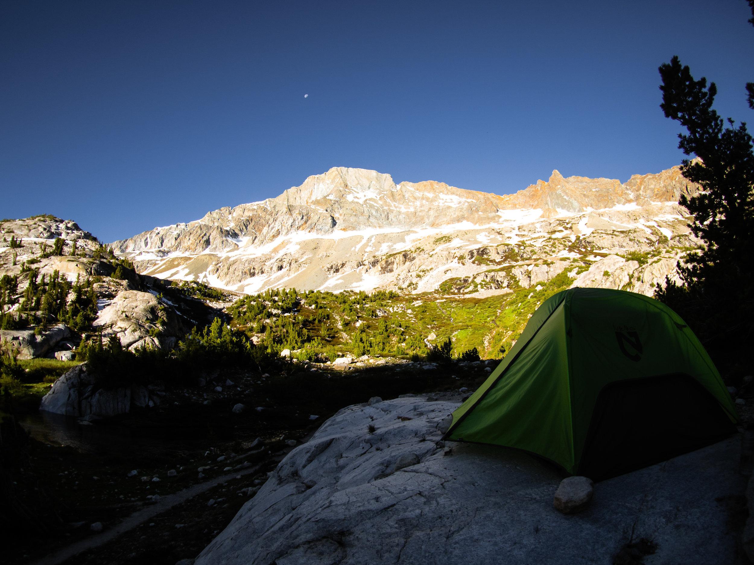 Camping before Muir Pass
