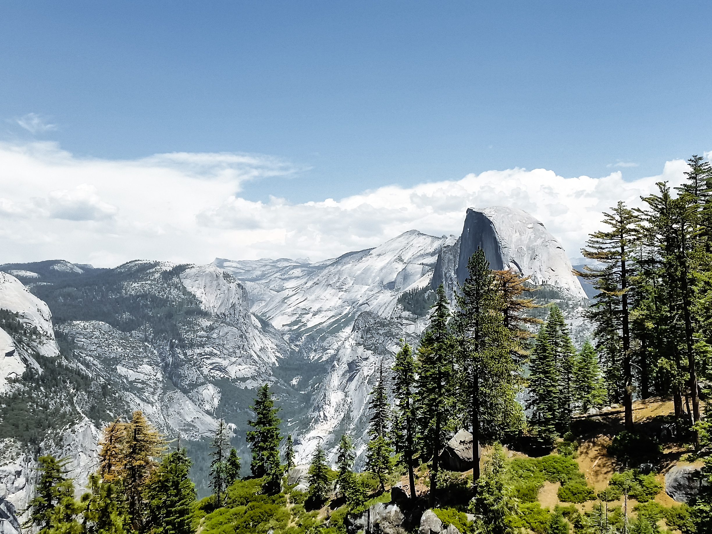 We got a ride fairly easily and hiked up to Glacier Point