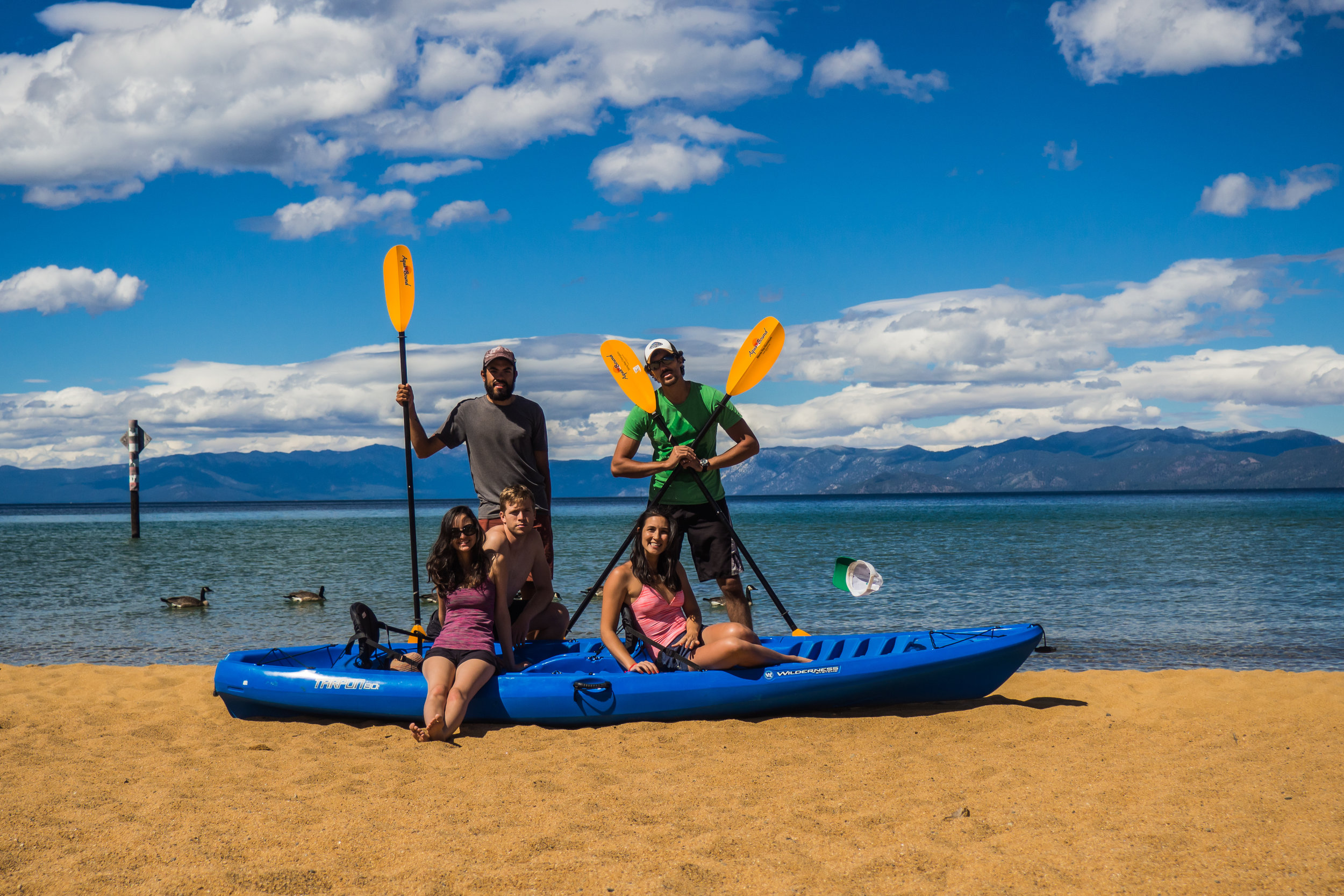A few friends dropped by to visit me on my rest day in Lake Tahoe