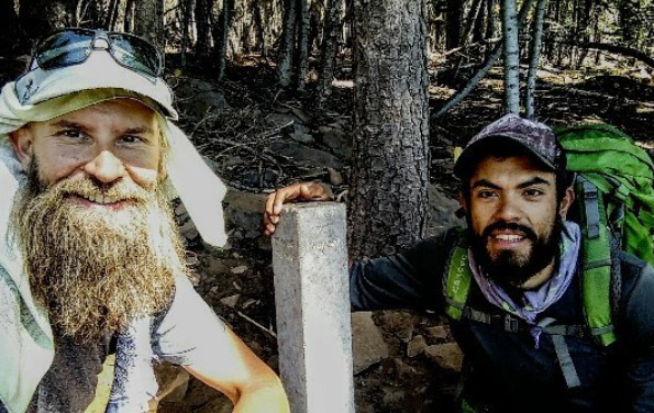 Hitting the PCT mid point with my friend Beardoh
