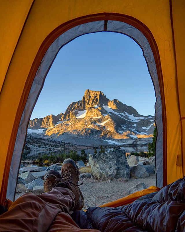 Views from my tent this morning were special. From a special place... #thriveoutside #mammothgear #visitmammoth