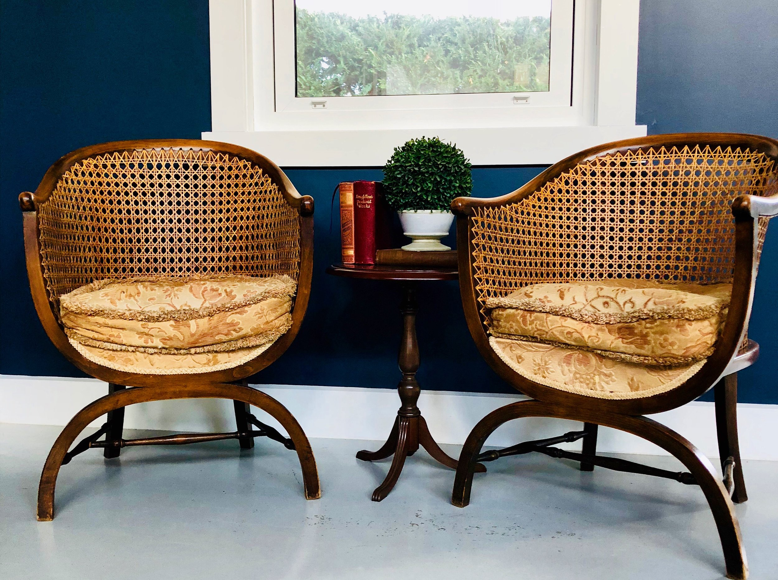 Antique Caned Back Chairs