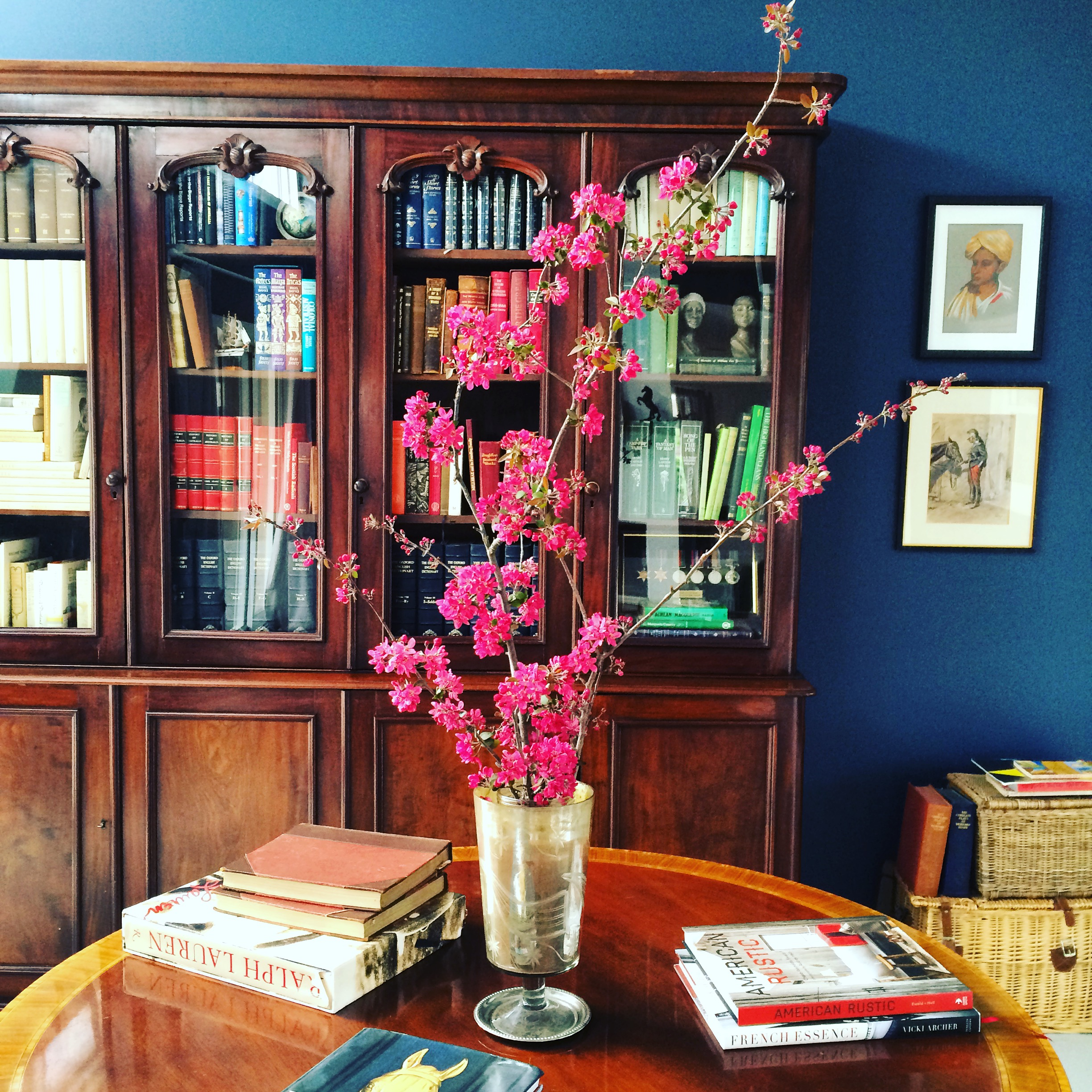 Antique Bookcase in home library