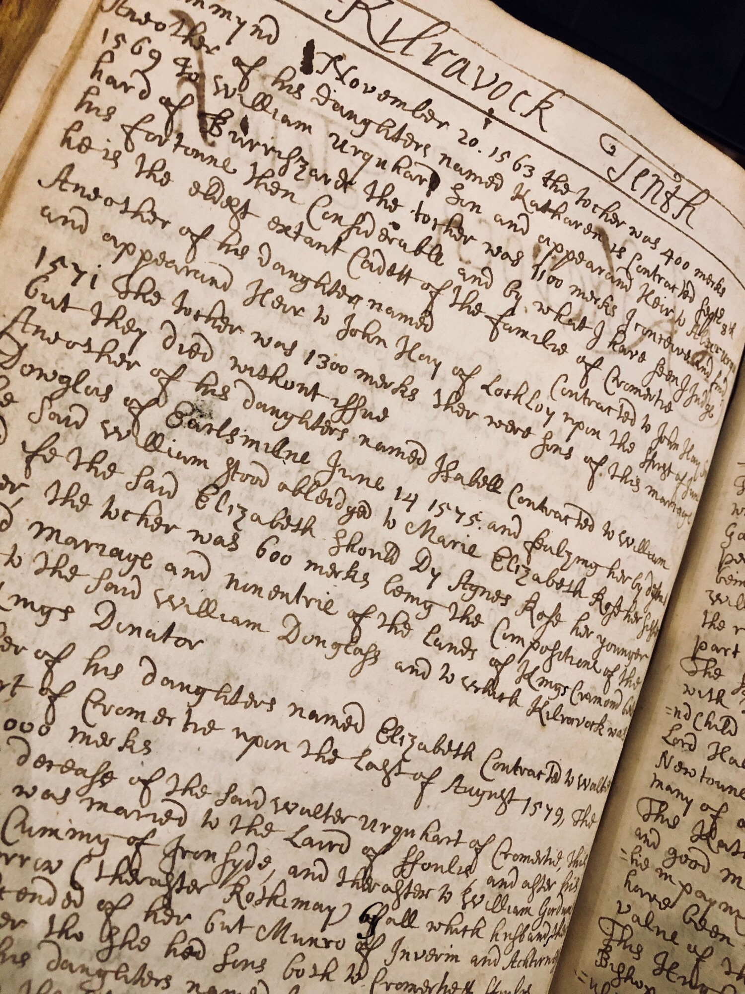 A page from our 19th Century book