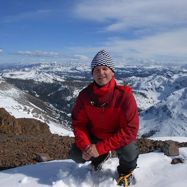 Winter climb to the top of Round-trip Peak in California's Sierra Mountains.
