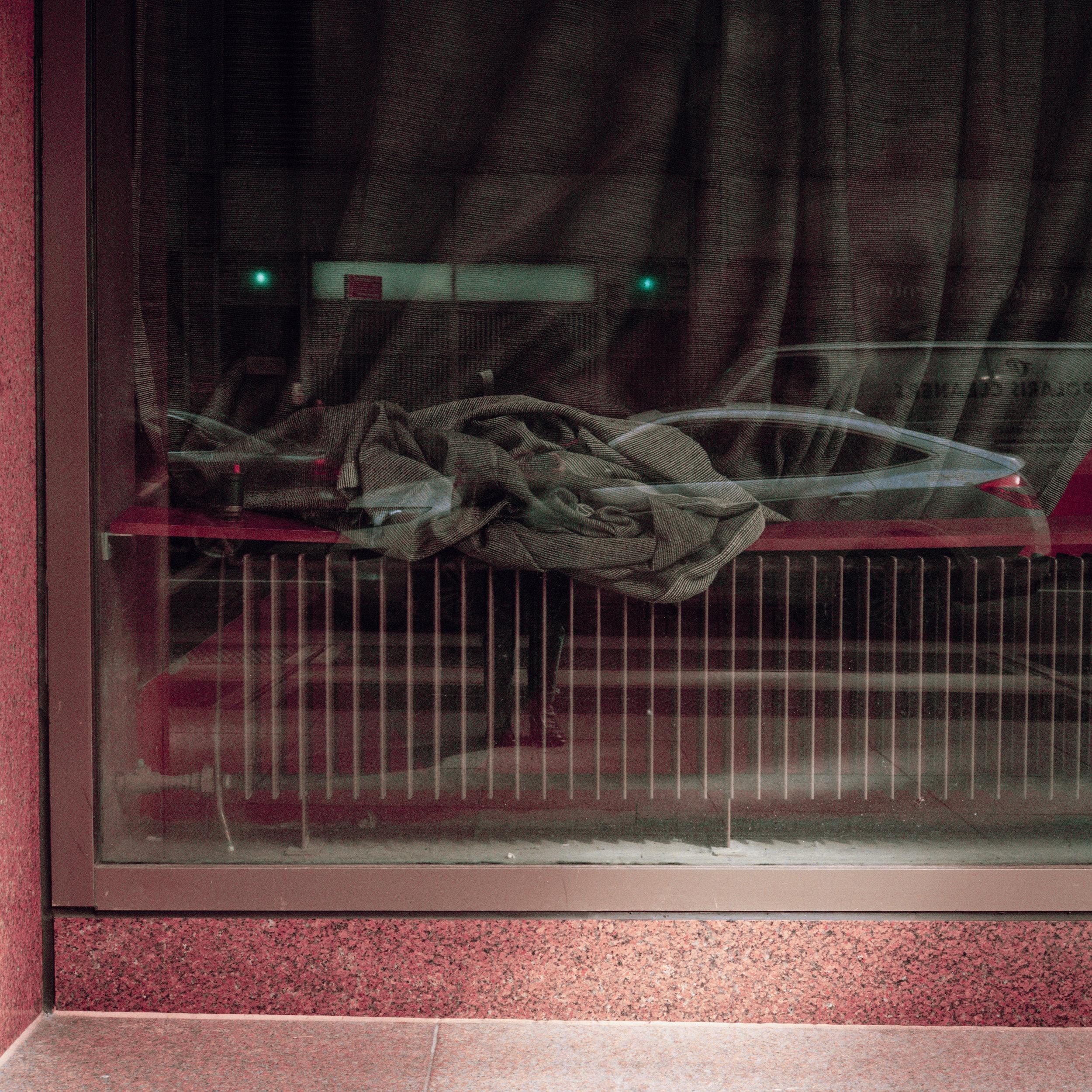 A tangled curtain