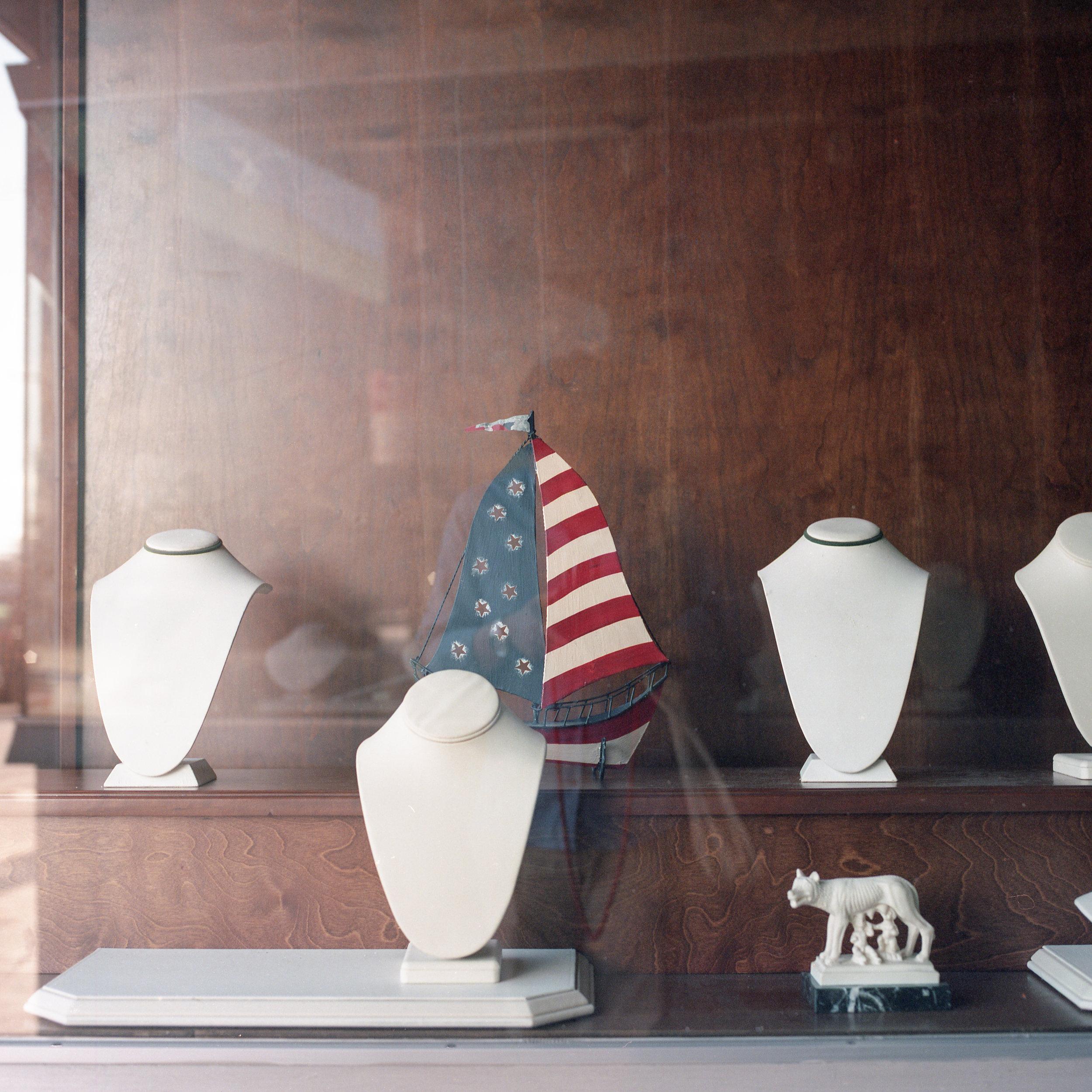 Show window of jewelry shop