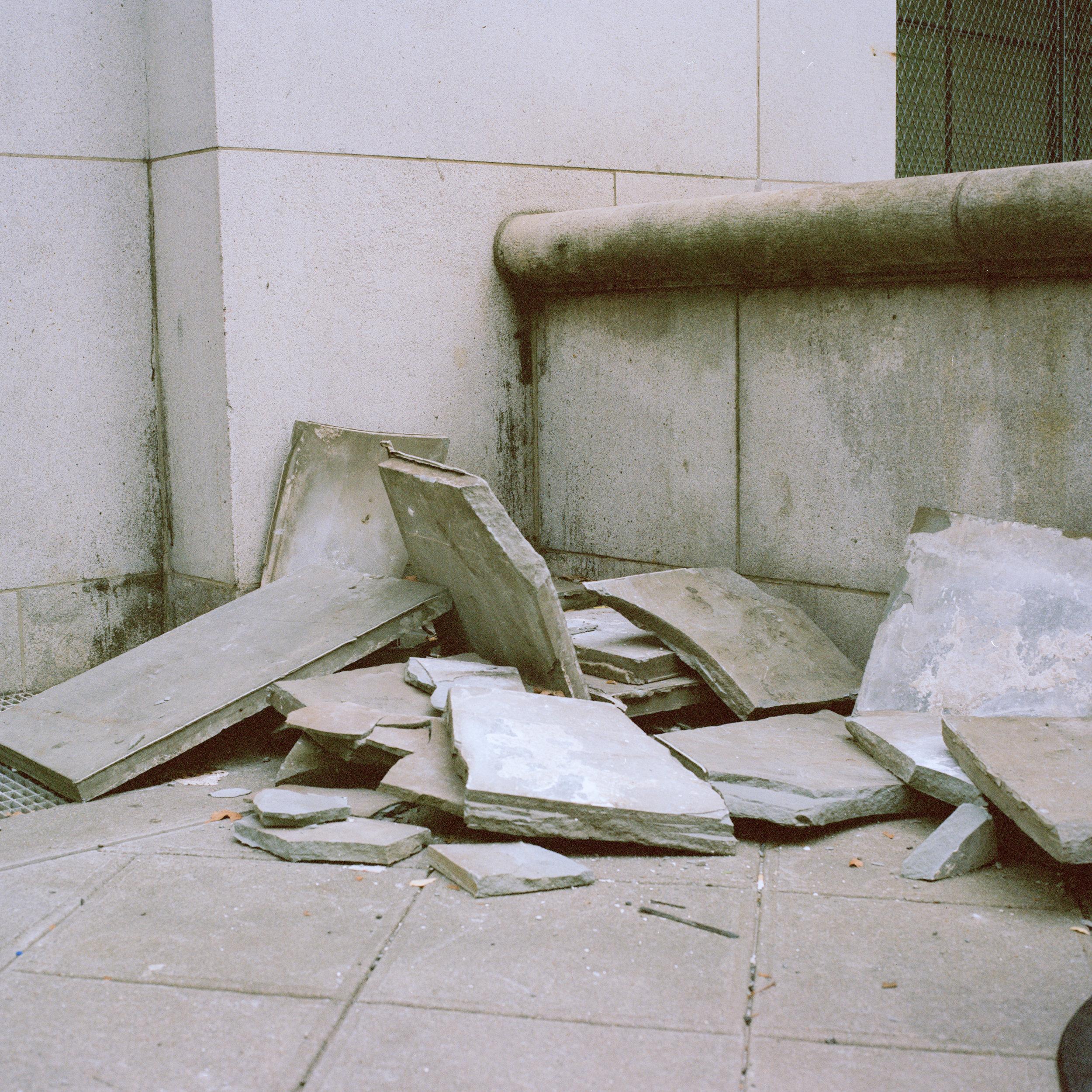 Pile of concrete