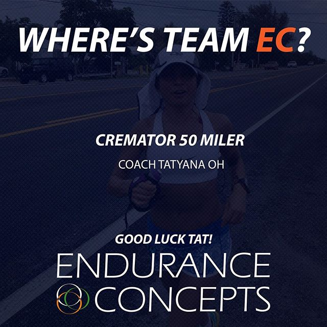 Coach Tat is taking on the Cremator Ultra 50 Miler tomorrow! Make us proud. Good luck!