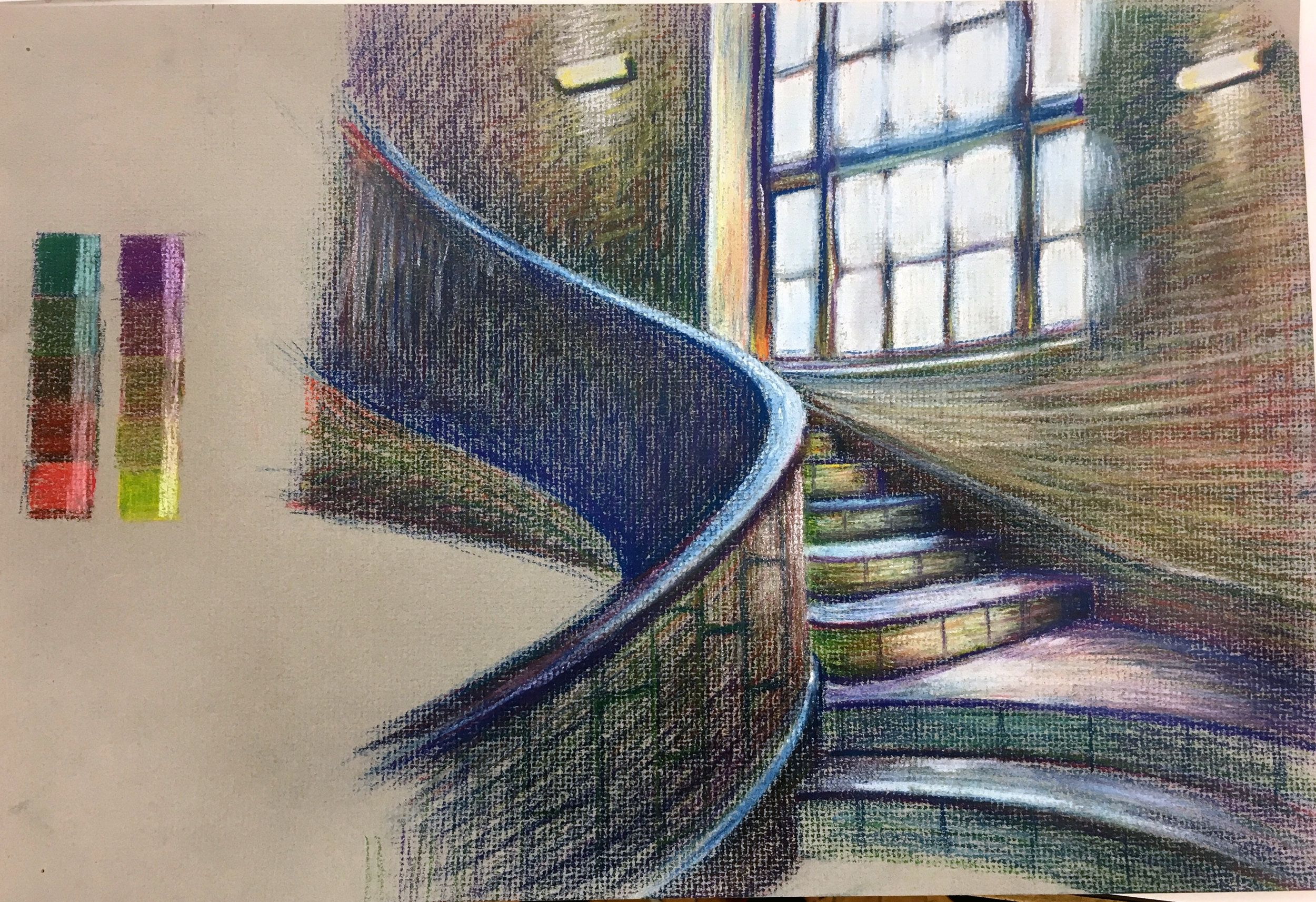 Baker Hall Staircase