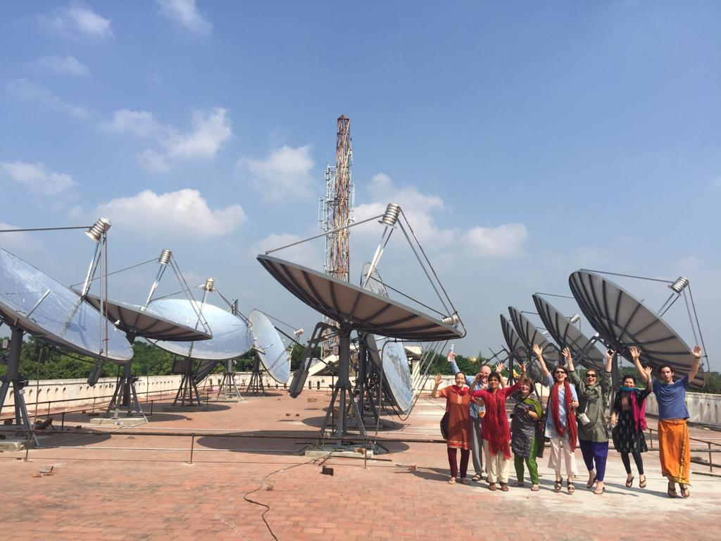 Jumping for Joy - the solar dishes have been installed!