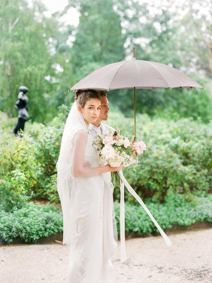 An Intimate and Romantic Rainy Day Wedding - Photographer - Amelia Soegijono Photography & Friends - Photography Shoot - Shot  - Couple Gardens.jpg