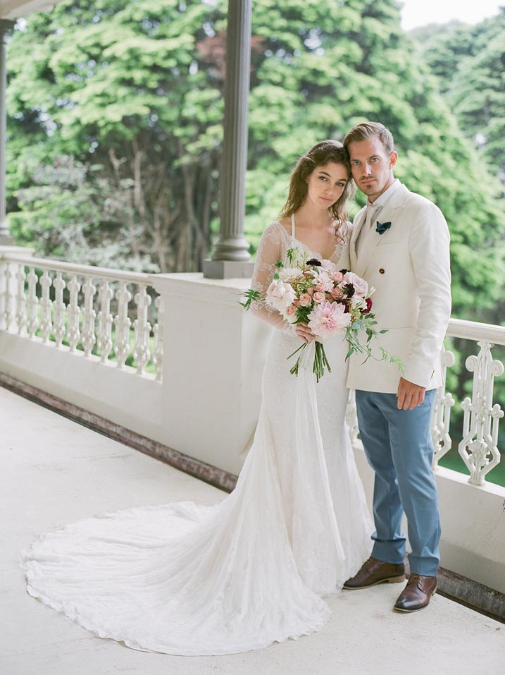 An Intimate and Romantic Rainy Day Wedding - Photographer - Amelia Soegijono Photography & Friends - Photography Shoot - Shot - Balcony Couple.jpg