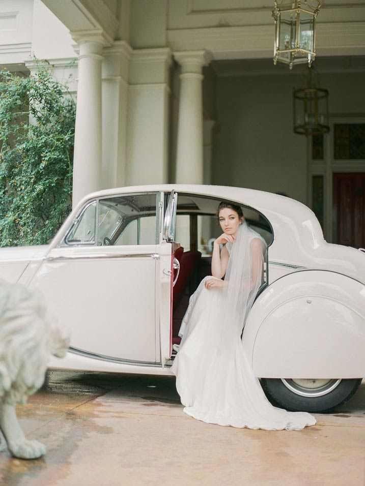 An Intimate and Romantic Rainy Day Wedding - Photographer - Amelia Soegijono Photography & Friends - Photography Shoot - Shot - Car at Residence Court.jpg