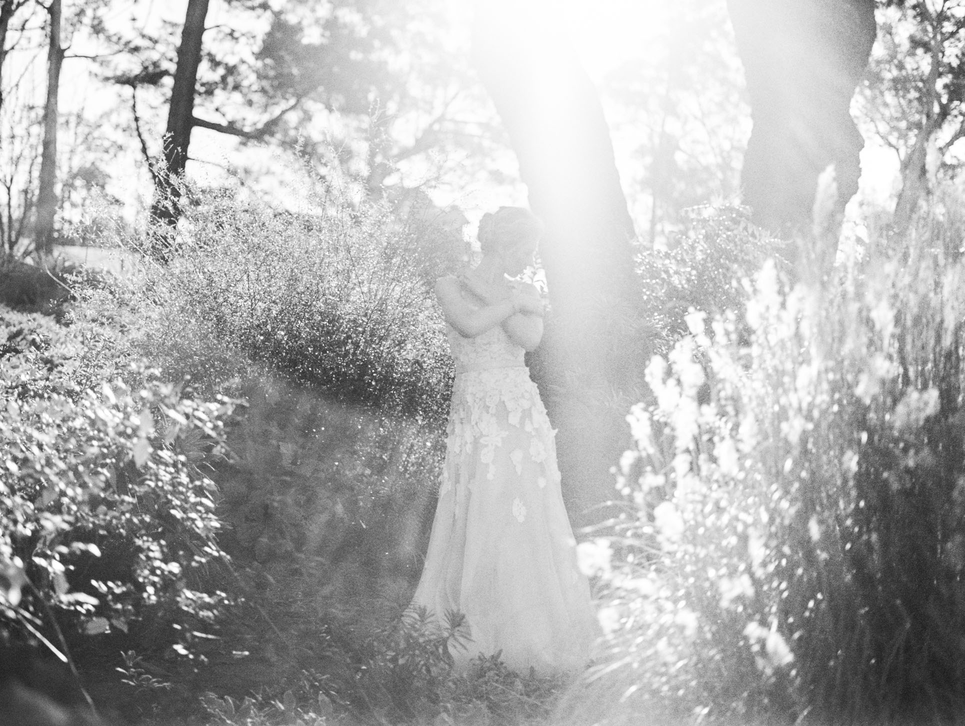 Hopewood House - Romantic Winter Wedding Shoot - Lilli Kad Photography - Shot - Garden BW.jpeg
