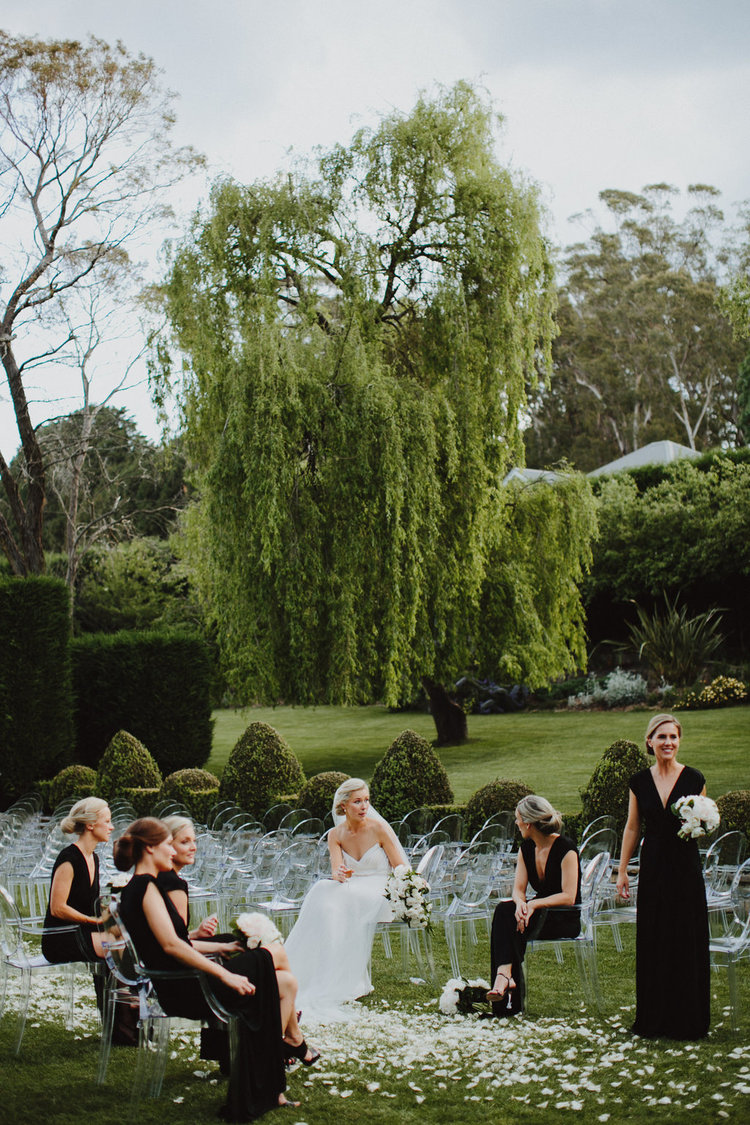 Hopewood House - Wedding Day Gallery - Courtney & Nick - The Bride and Bridesmaids in the Garden.jpeg