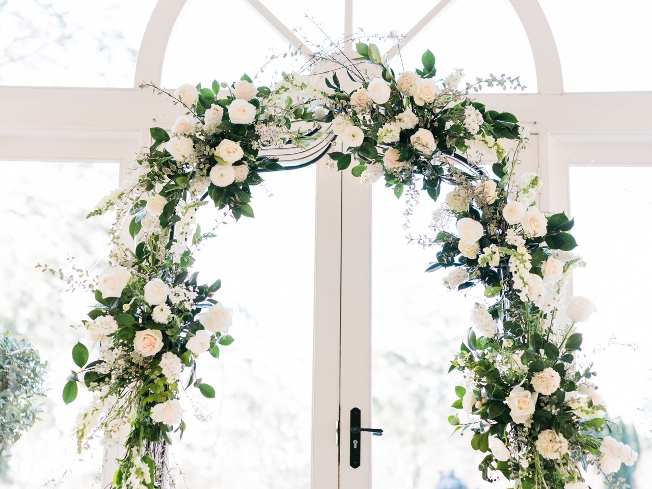Studio Flora Co - Hopewood House - Rainy Day Weddings Shoot - Pavilion - Ballroom - Ceremony - Archway.jpg