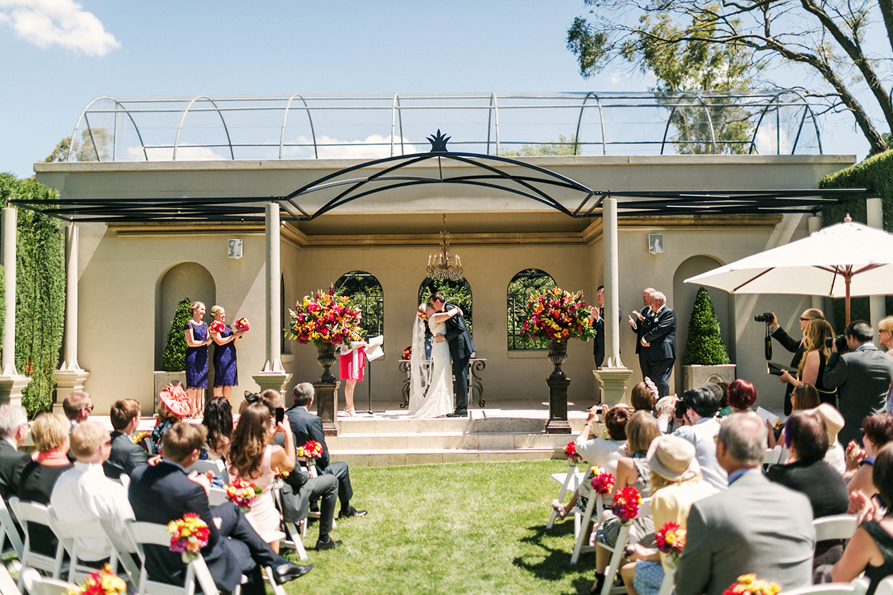 Hopewood House - Wedding Day Gallery - Lisa and Mark - At Dusk Photography - Ceremony Garden Chapel and Lawn Kiss.jpeg