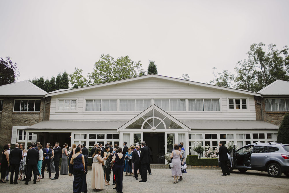 Justin Aaron Photography - Elizabeth & Damien  - Hopewood House - Wedding Gallery - The Pavilion Drive Guests Gathering.jpeg
