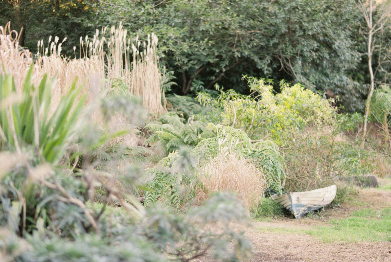 Hopewood House - Romantic Winter Wedding Shoot - Lilli Kad Photography - Shot - Garden pond boat.jpeg