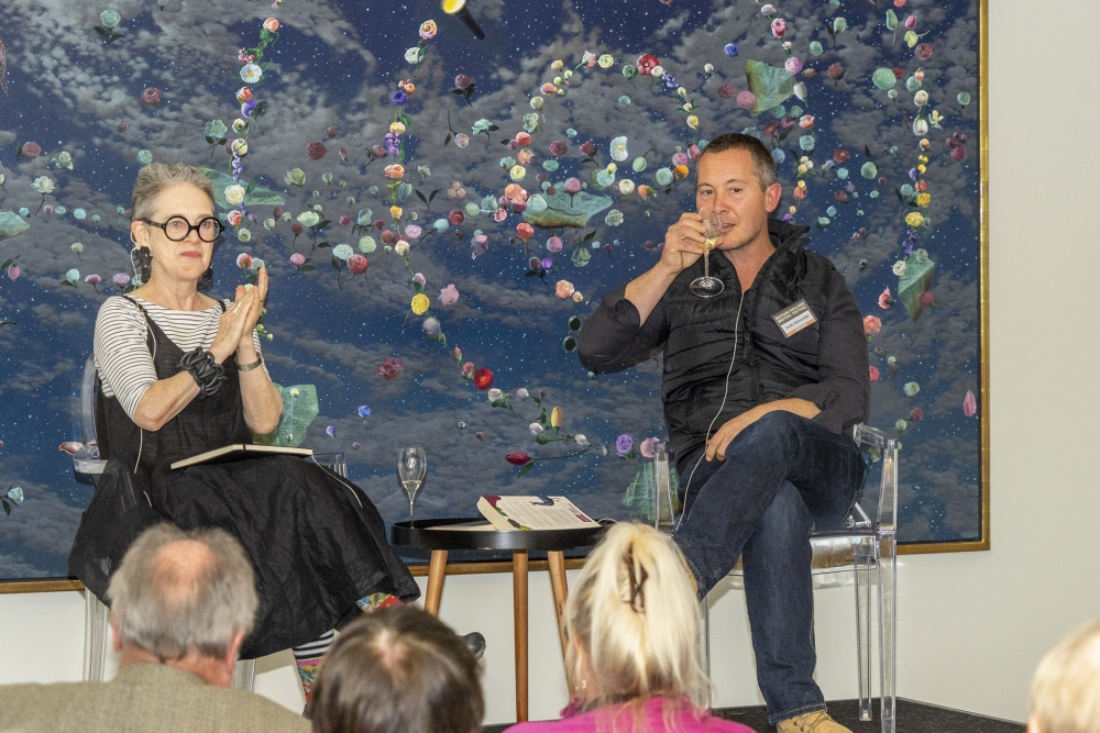 SHWF 2 - Sue Turnbull interviews Todd Alexander about his latest book, Thirty Thousand Bottles of Wine and a Pig Called Helga Photo by Greg Jackson.jpg