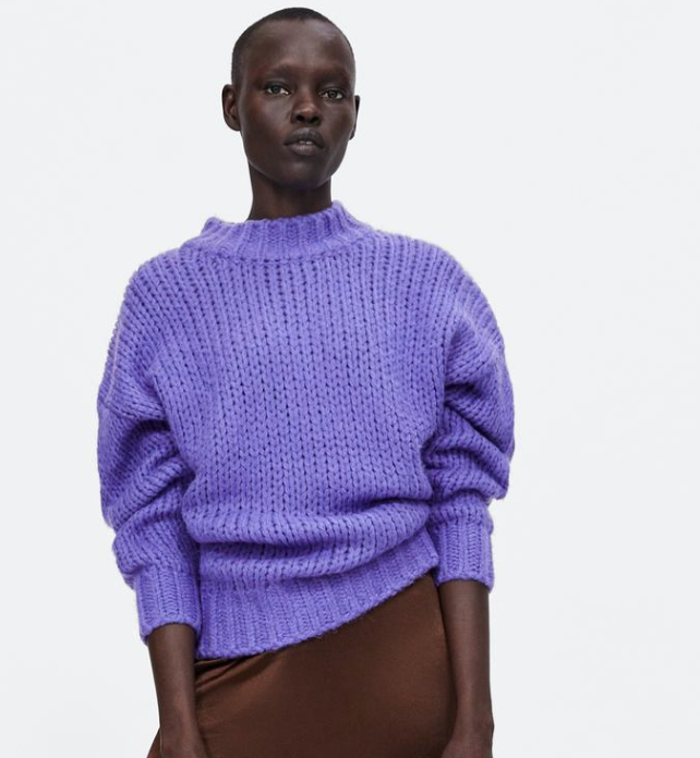 Oversized Lilac Sweater - Uhm, hello there PERFECTION. Have you ever seen a more beautiful color? If you answered yes, then you're lying. This is the exact pop of color I was talking about in the intro!