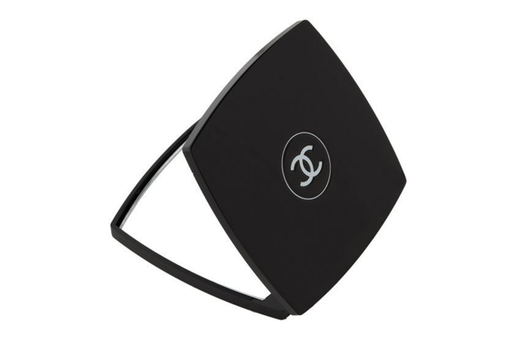 Chanel Compact Mirror - A sleek and beautiful addition to anyone's makeup counter or handbag.