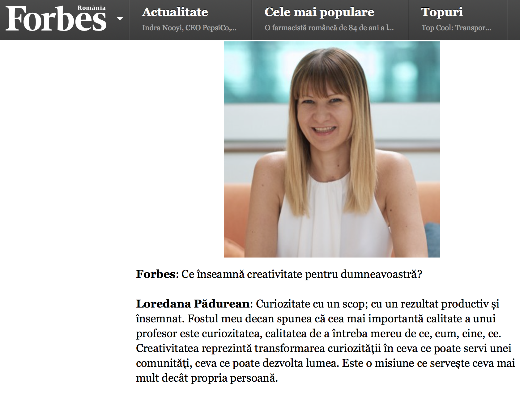 In  Forbes  Romania