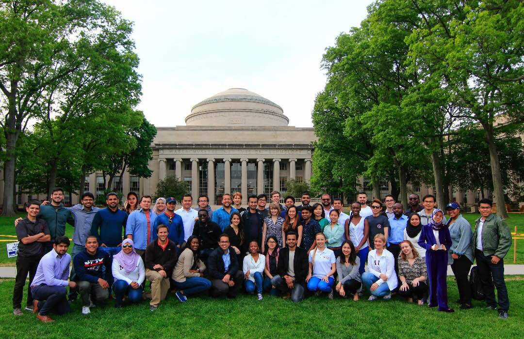With the ASB students at MIT Sloan